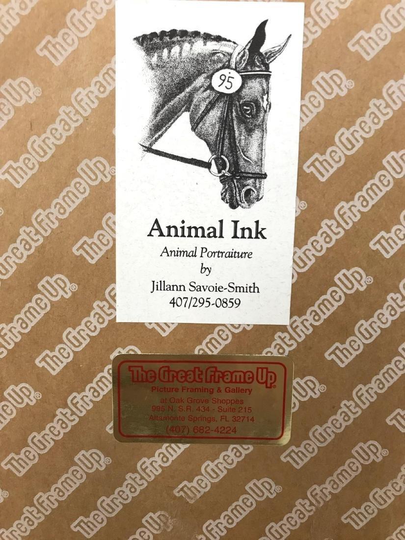 Original Pen and Ink Artwork, Animal Portraiture, Signe - 8