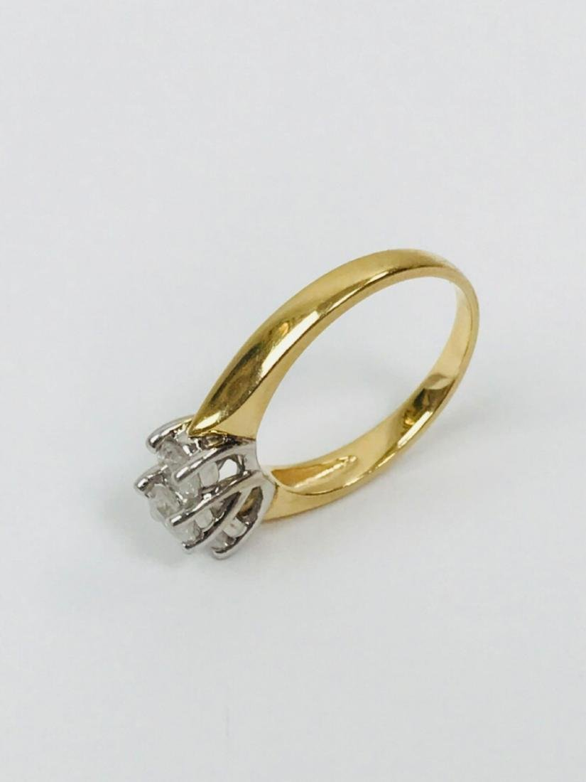 14K Gold and Diamond Ring Estate Jewelry - 10