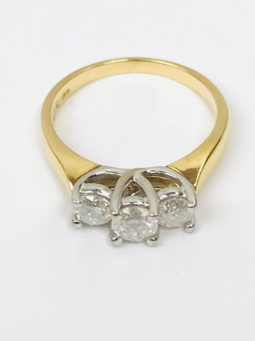 14K Gold and Diamond Ring Estate Jewelry - 3