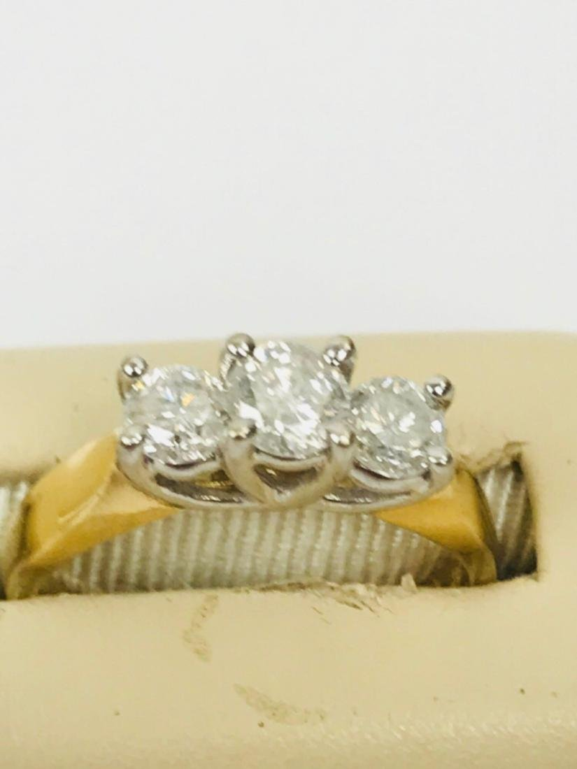14K Gold and Diamond Ring Estate Jewelry - 4