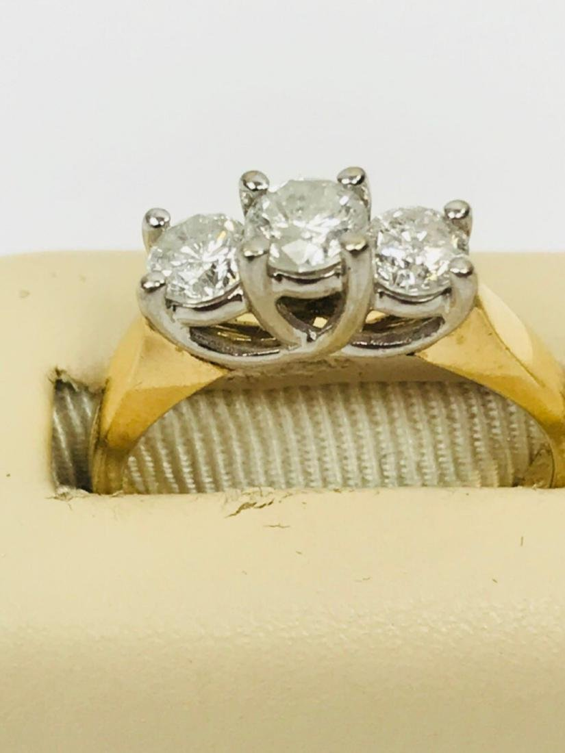 14K Gold and Diamond Ring Estate Jewelry - 6