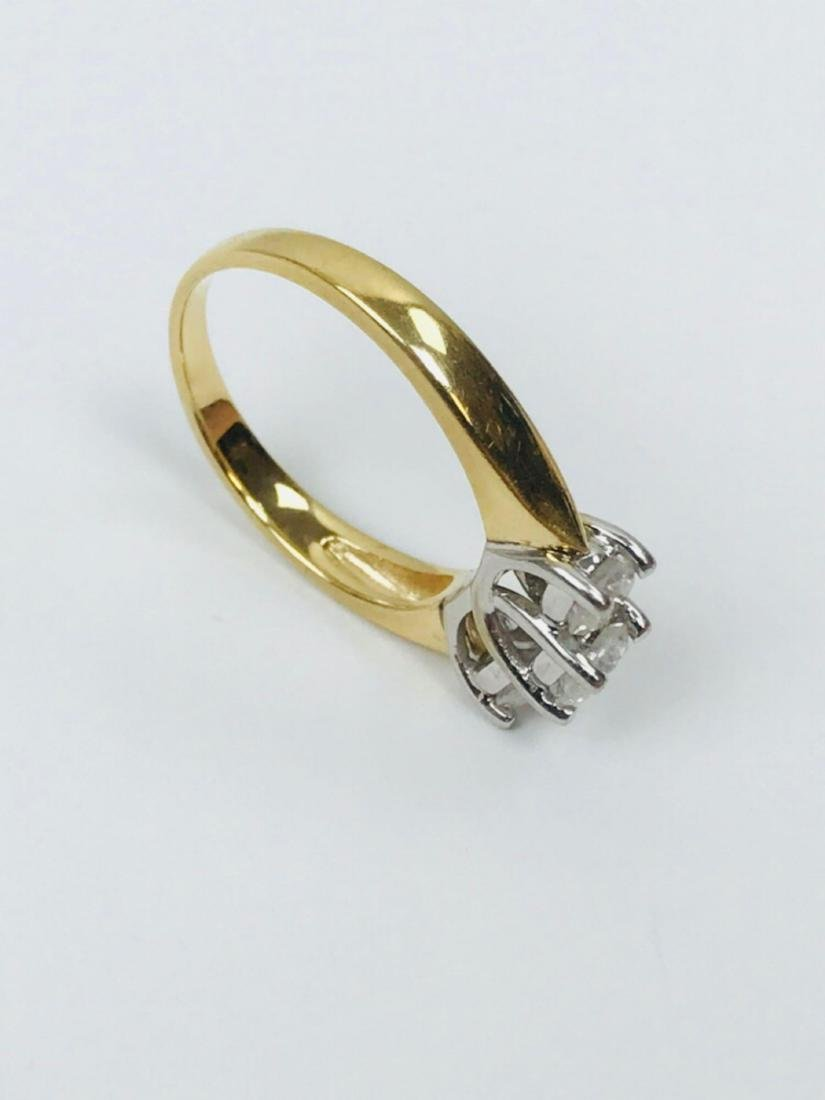 14K Gold and Diamond Ring Estate Jewelry - 7