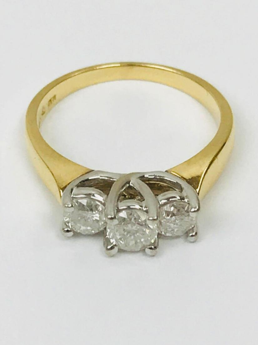 14K Gold and Diamond Ring Estate Jewelry - 9