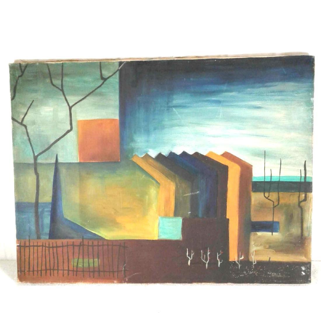 "Signed ""M. Haberhern"" Oil Painting"