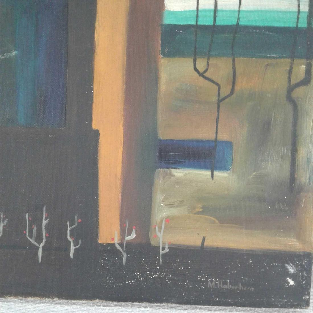 "Signed ""M. Haberhern"" Oil Painting - 4"