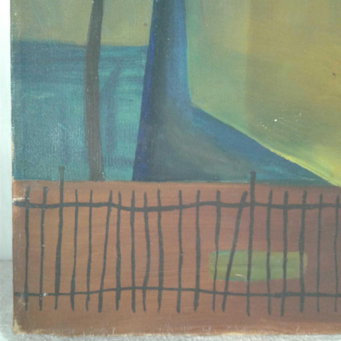 "Signed ""M. Haberhern"" Oil Painting - 5"