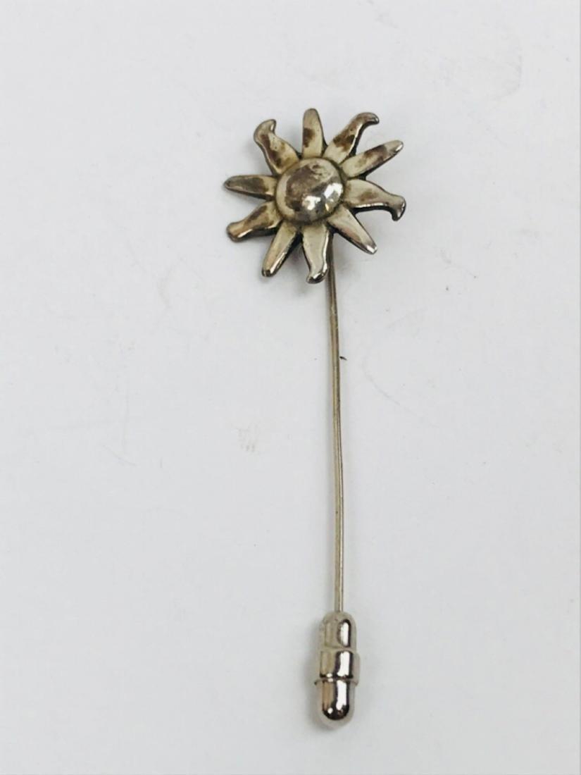 Vintage Sterling Silver Hat Lapel Pin