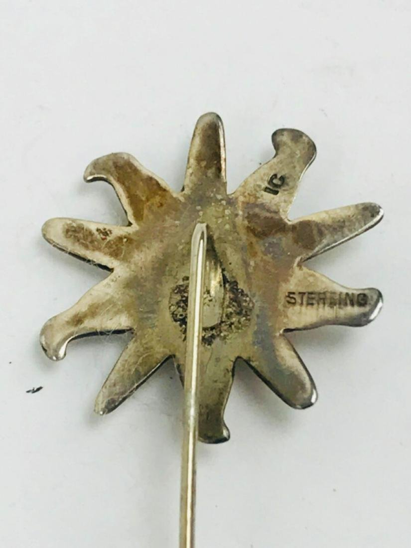 Vintage Sterling Silver Hat Lapel Pin - 3