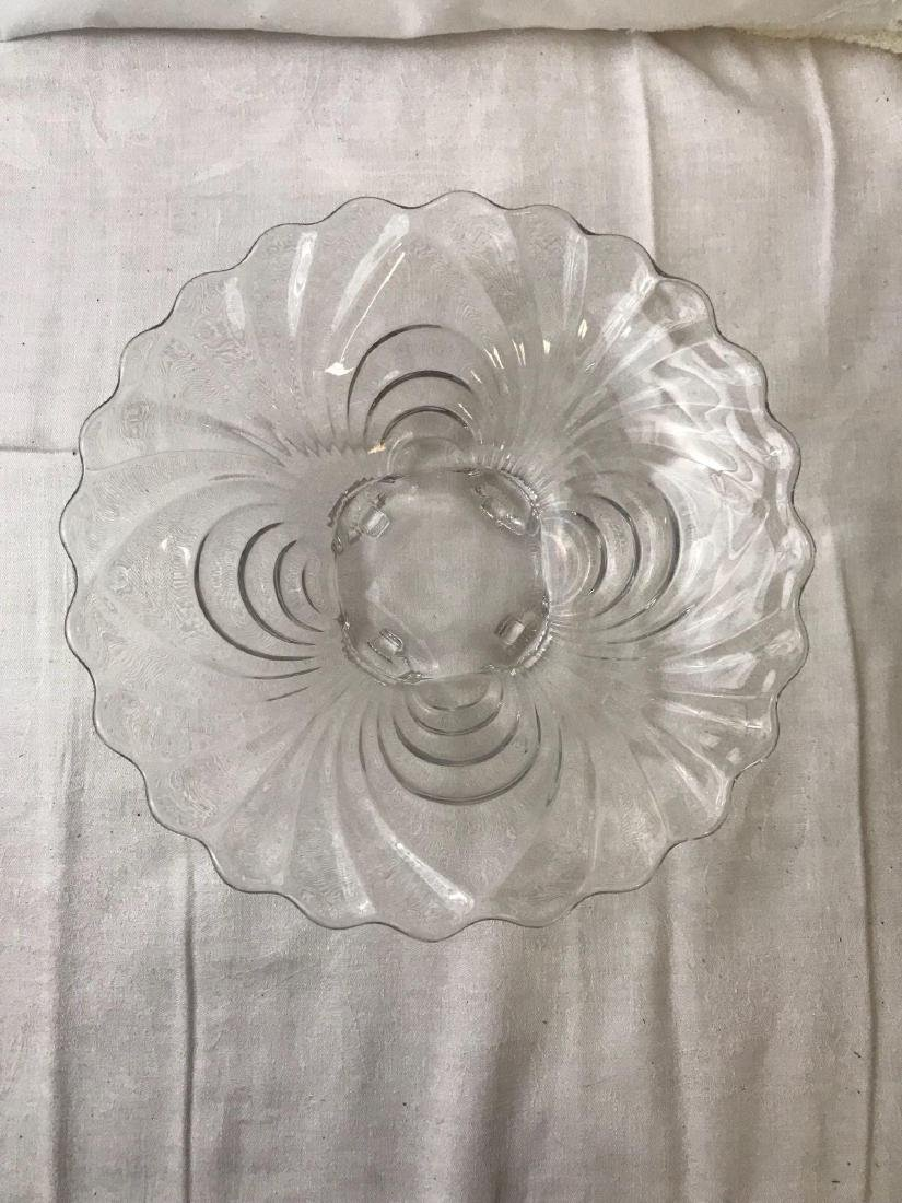 Vintage Hollywood Regency Glass Bowl - 2