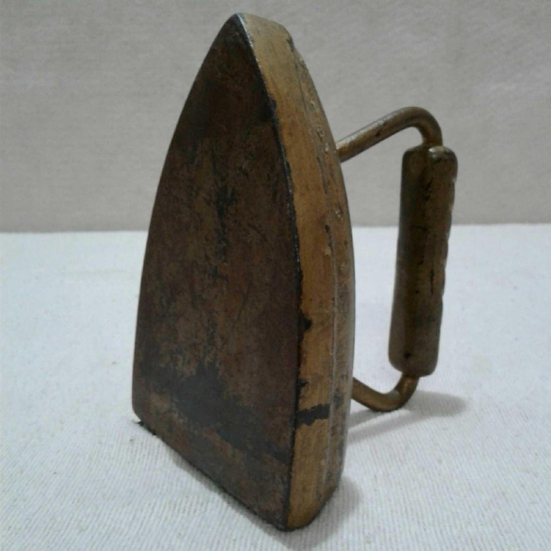 Antique Cast Iron, Iron Painted Gold - 2