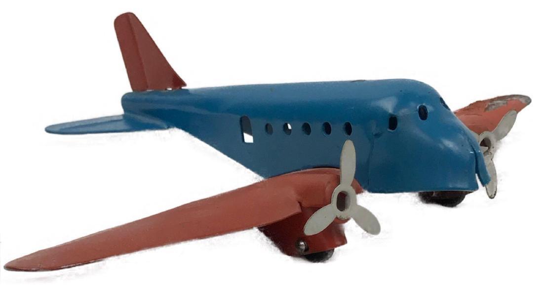 Vintage Pressed Steel Toy Airplane