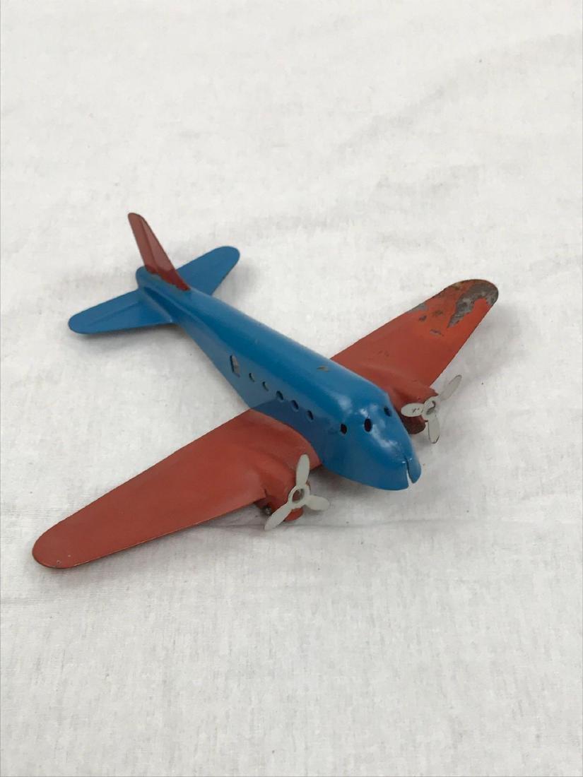 Vintage Pressed Steel Toy Airplane - 2