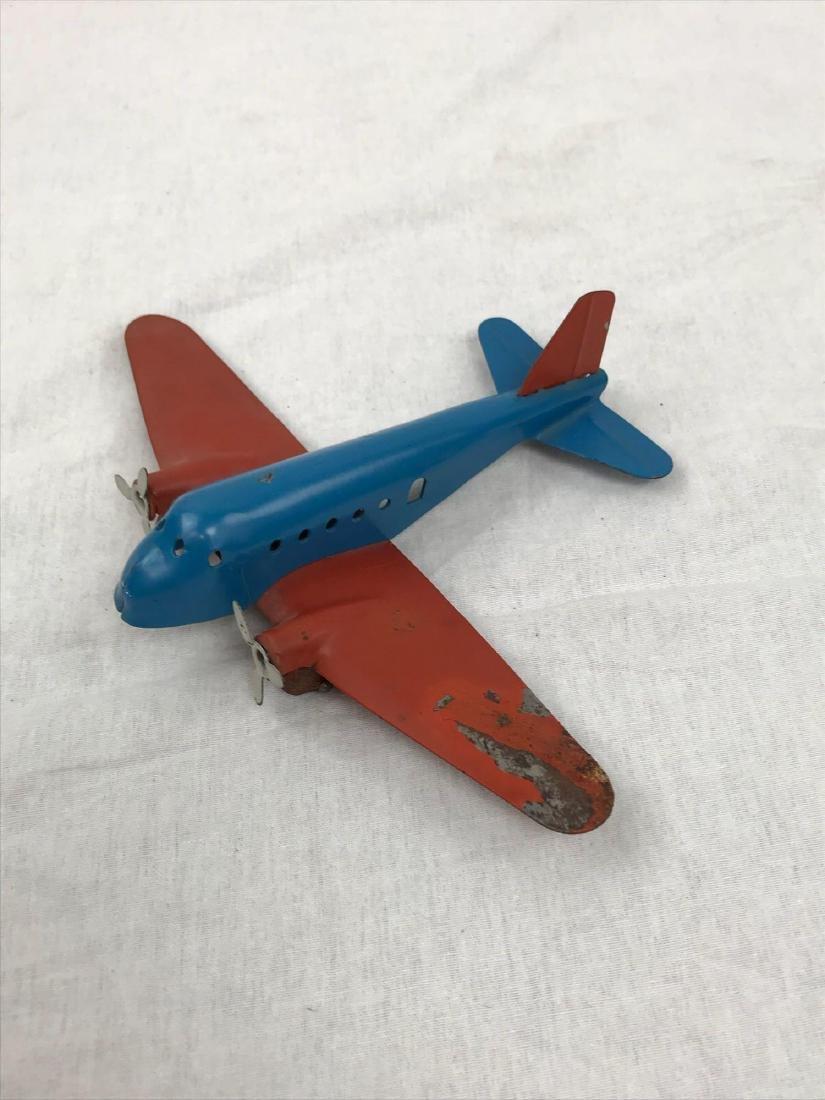 Vintage Pressed Steel Toy Airplane - 6
