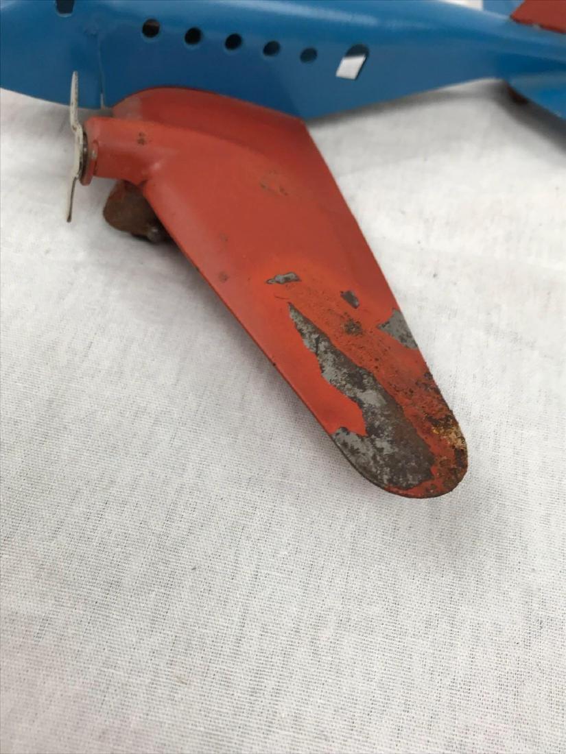 Vintage Pressed Steel Toy Airplane - 7