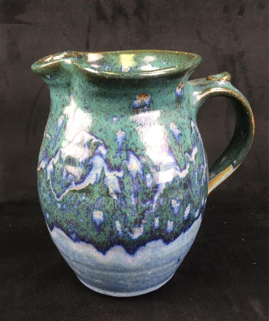 Ceramic Salt Glazed Earthenware Pitcher Marked