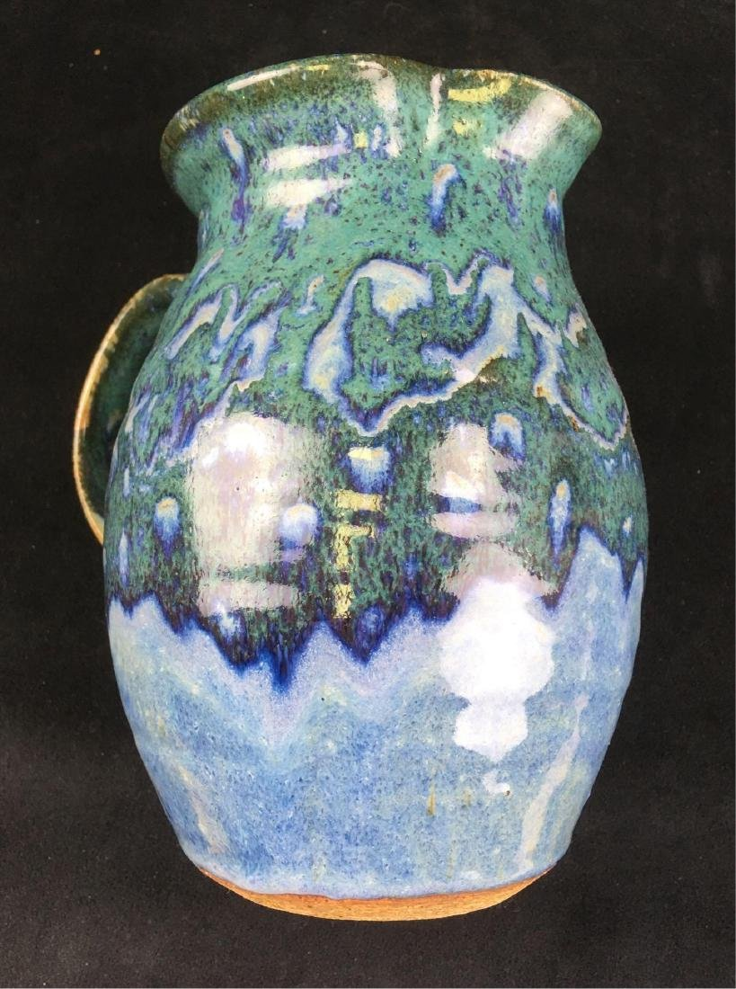Ceramic Salt Glazed Earthenware Pitcher Marked - 4