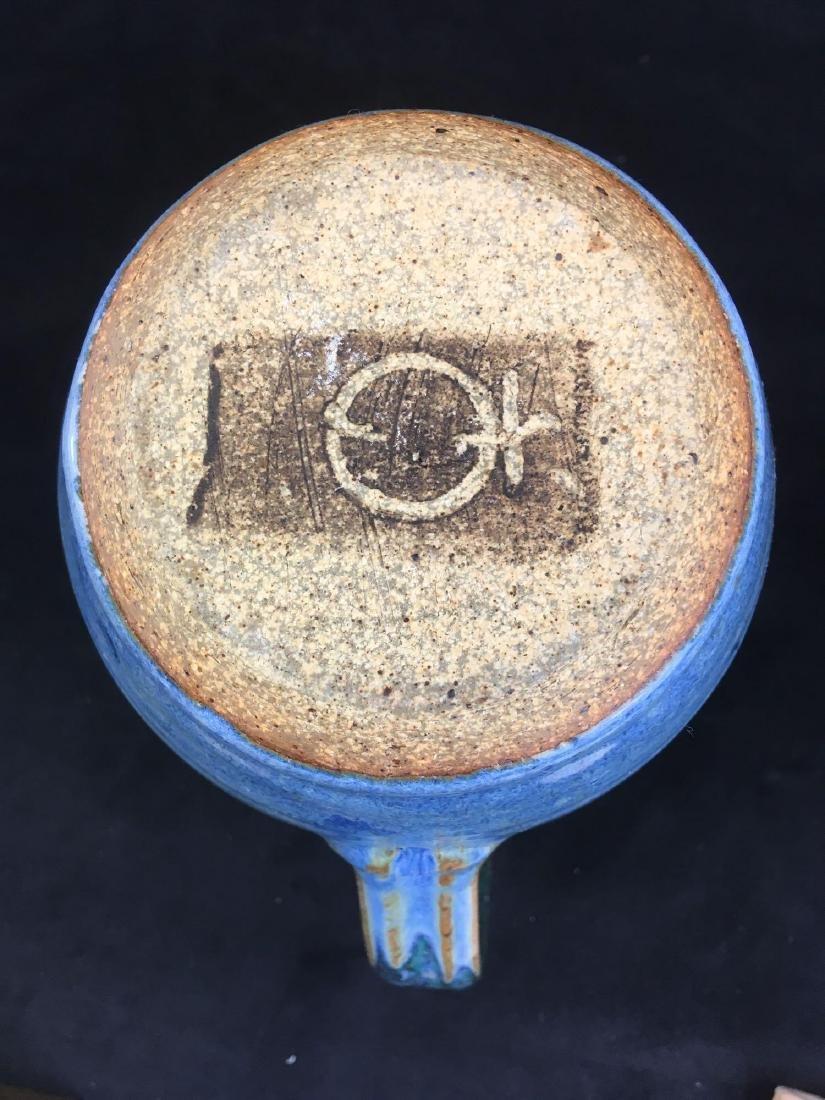Ceramic Salt Glazed Earthenware Pitcher Marked - 5