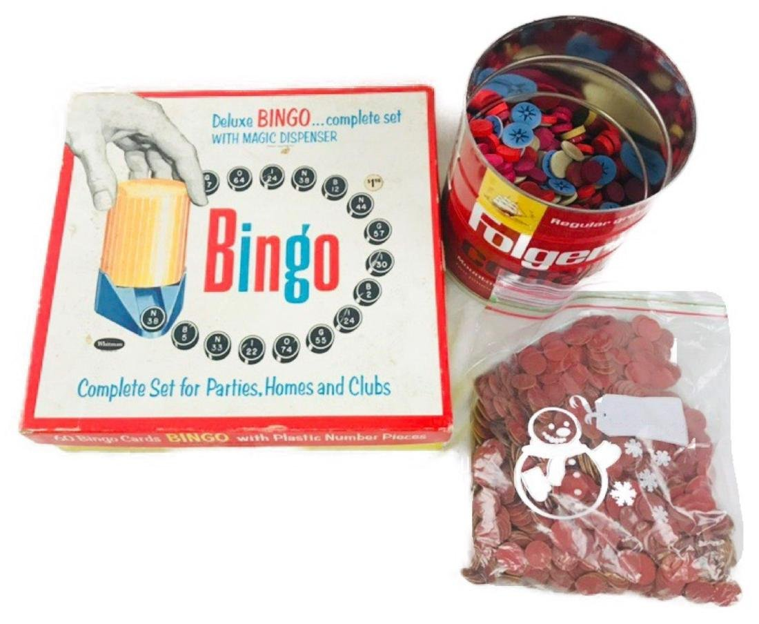 Vintage Deluxe Bingo Game with Magic Dispenser, by