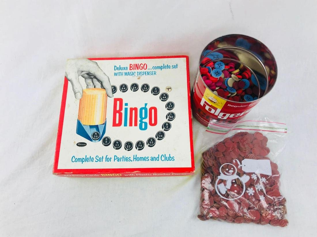 Vintage Deluxe Bingo Game with Magic Dispenser, by - 3