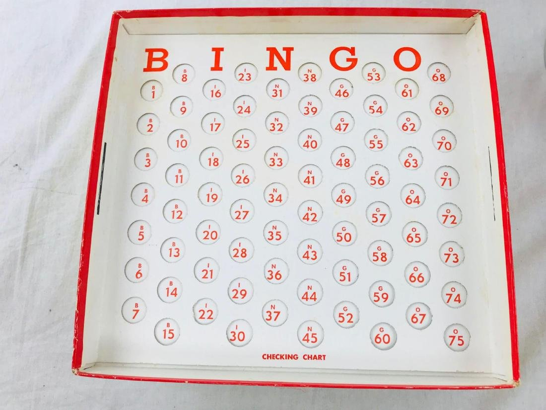 Vintage Deluxe Bingo Game with Magic Dispenser, by - 9