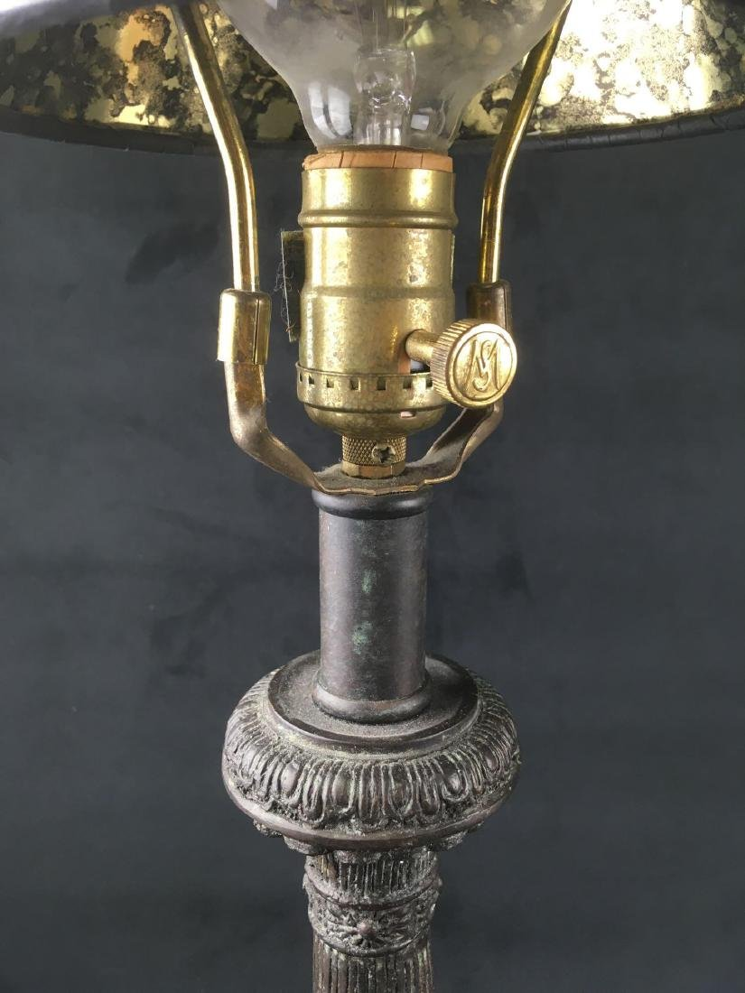 Pair of Vintage Maitland Smith Bronze Candle Stick - 4