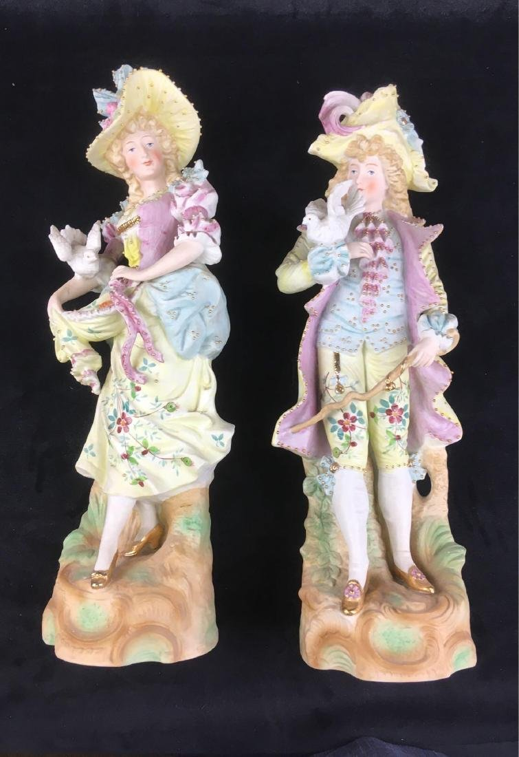 Vintage Bisque Courting Figurines - 2