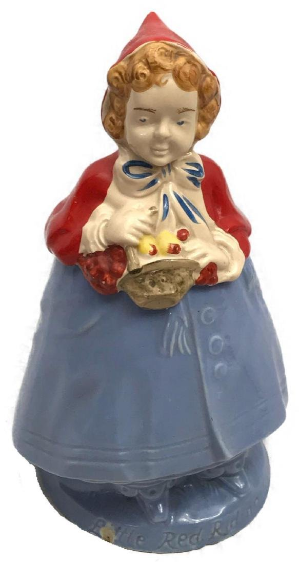 Vintage Little Red Riding Hood Art Pottery Cookie Jar