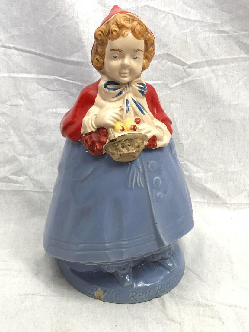 Vintage Little Red Riding Hood Art Pottery Cookie Jar - 2