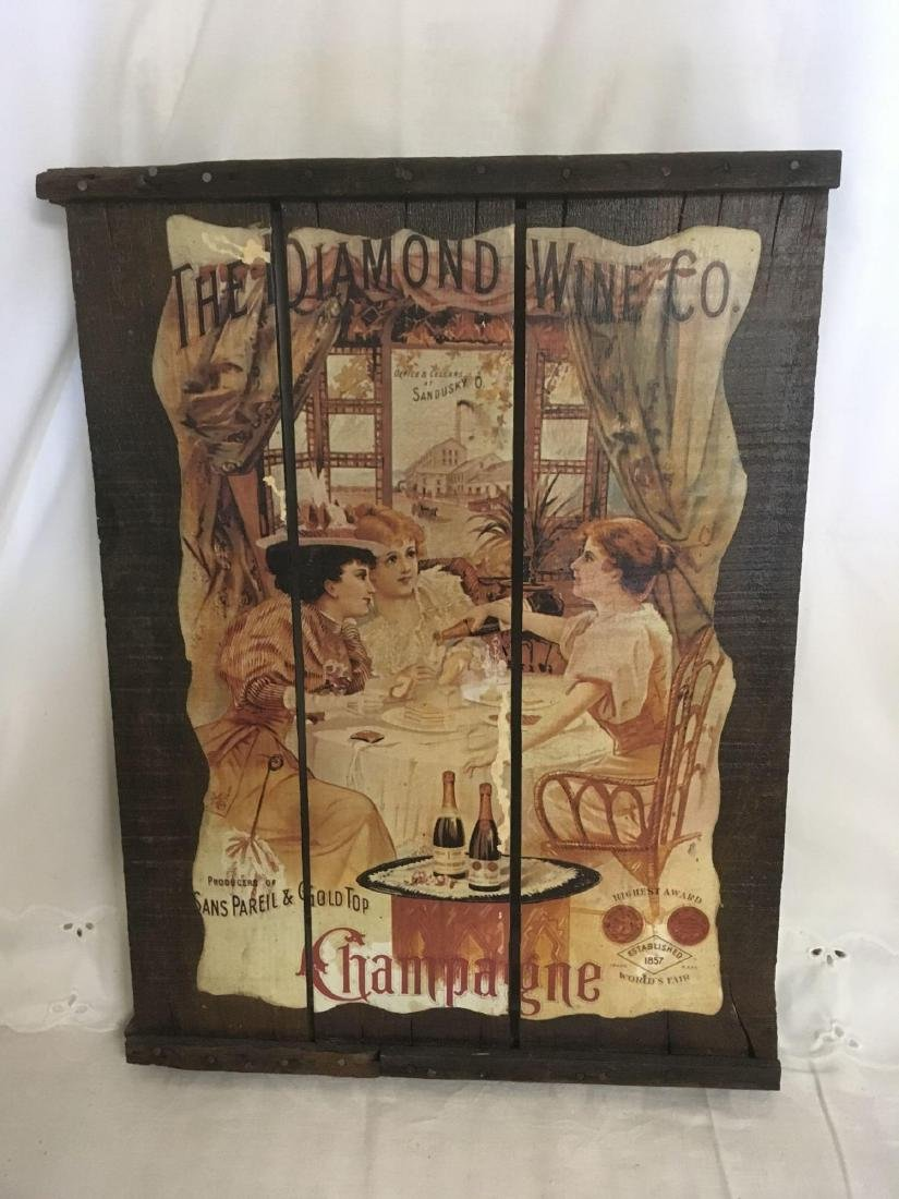 The Diamond Wine Co. Champagne Vintage Wooden Crate Top