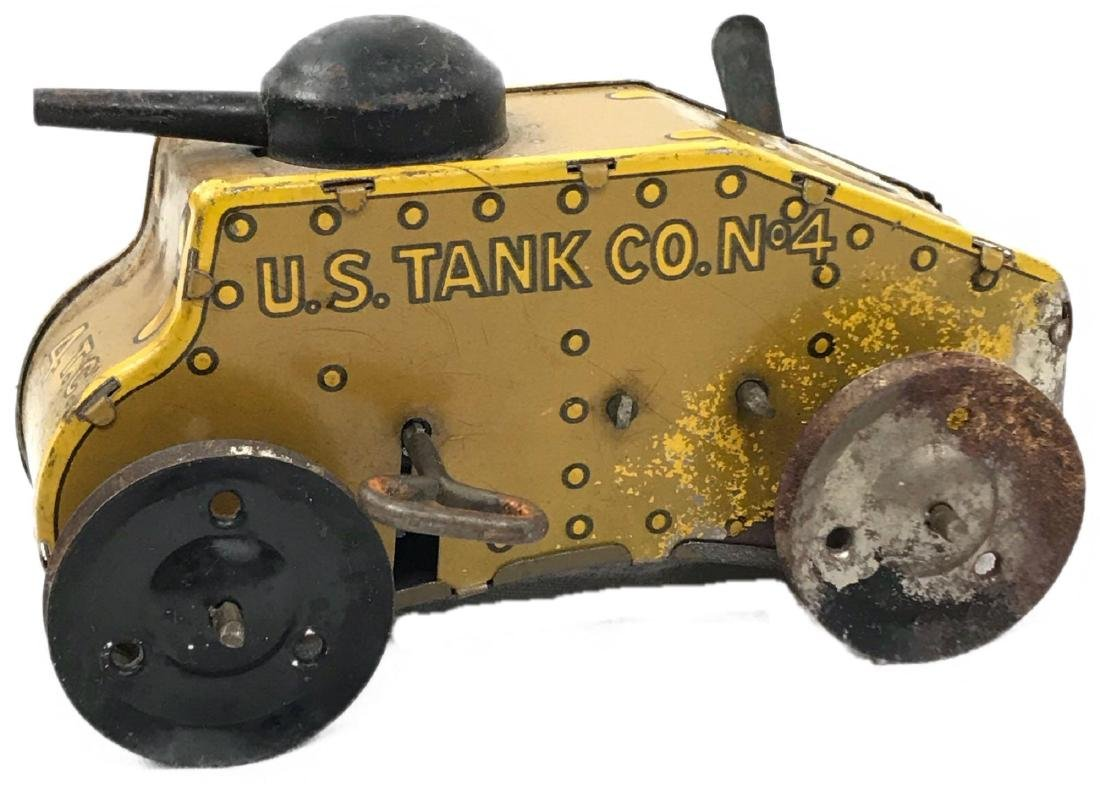 Vintage Wind Up Tin Toy Tank by Marx, circa 1930's