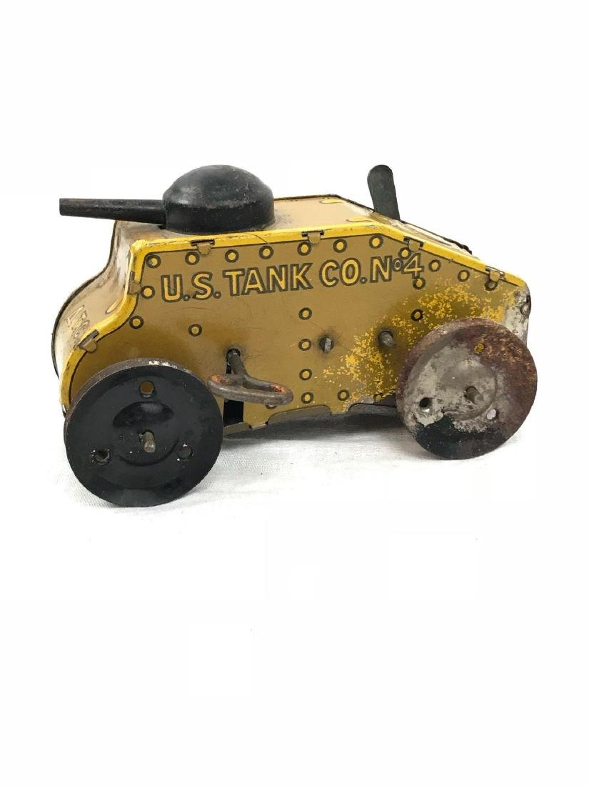 Vintage Wind Up Tin Toy Tank by Marx, circa 1930's - 2