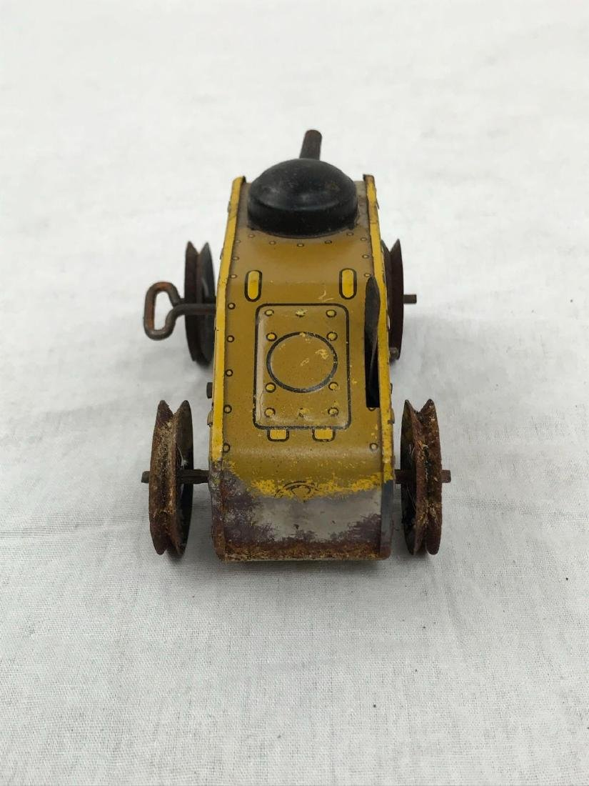 Vintage Wind Up Tin Toy Tank by Marx, circa 1930's - 4
