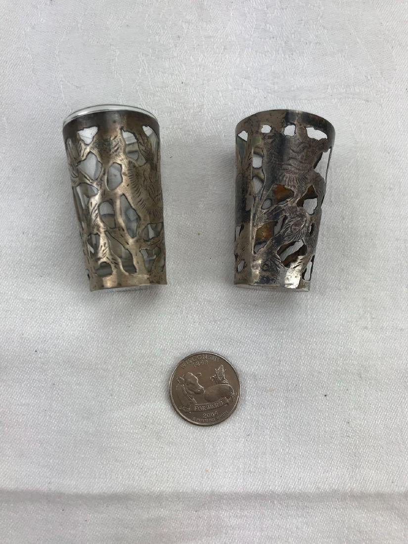 Vintage Mexican Sterling Silver Shot Glasses