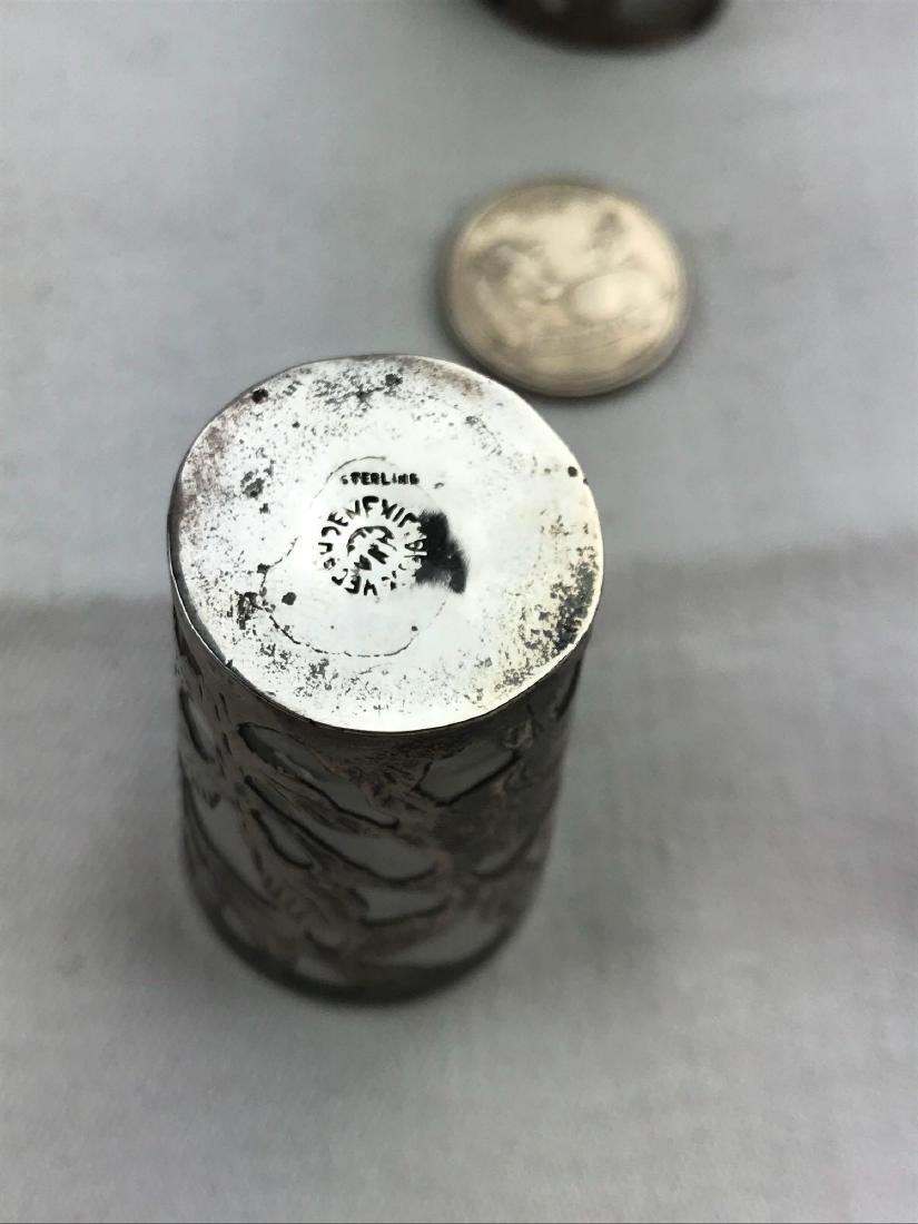 Vintage Mexican Sterling Silver Shot Glasses - 2