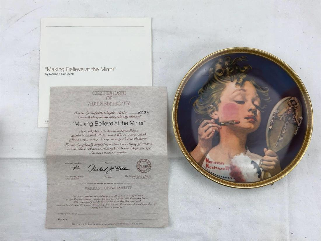 Collectors Plate Making Believe in the Mirror, Rockwell