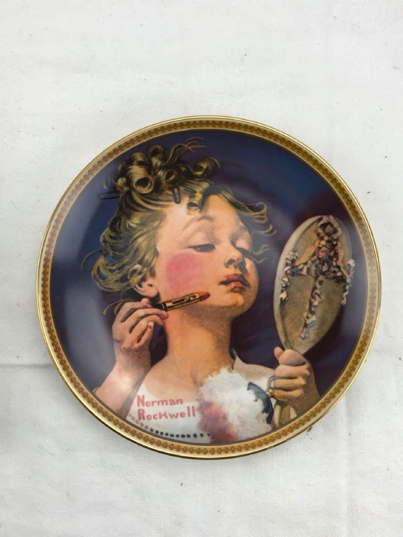 Collectors Plate Making Believe in the Mirror, Rockwell - 3