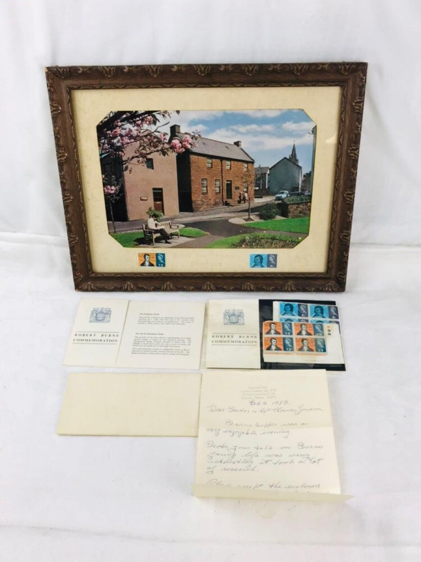 Robert Burns Stamp and Picture Set - 2