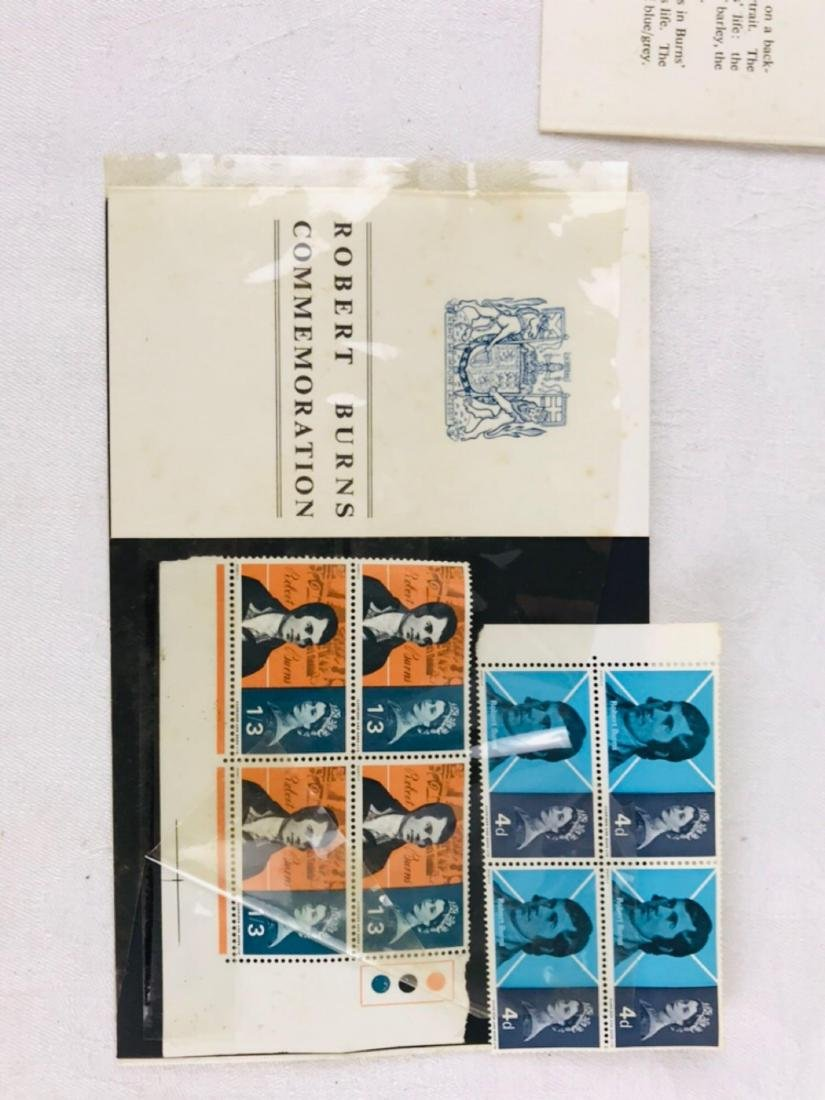 Robert Burns Stamp and Picture Set - 4