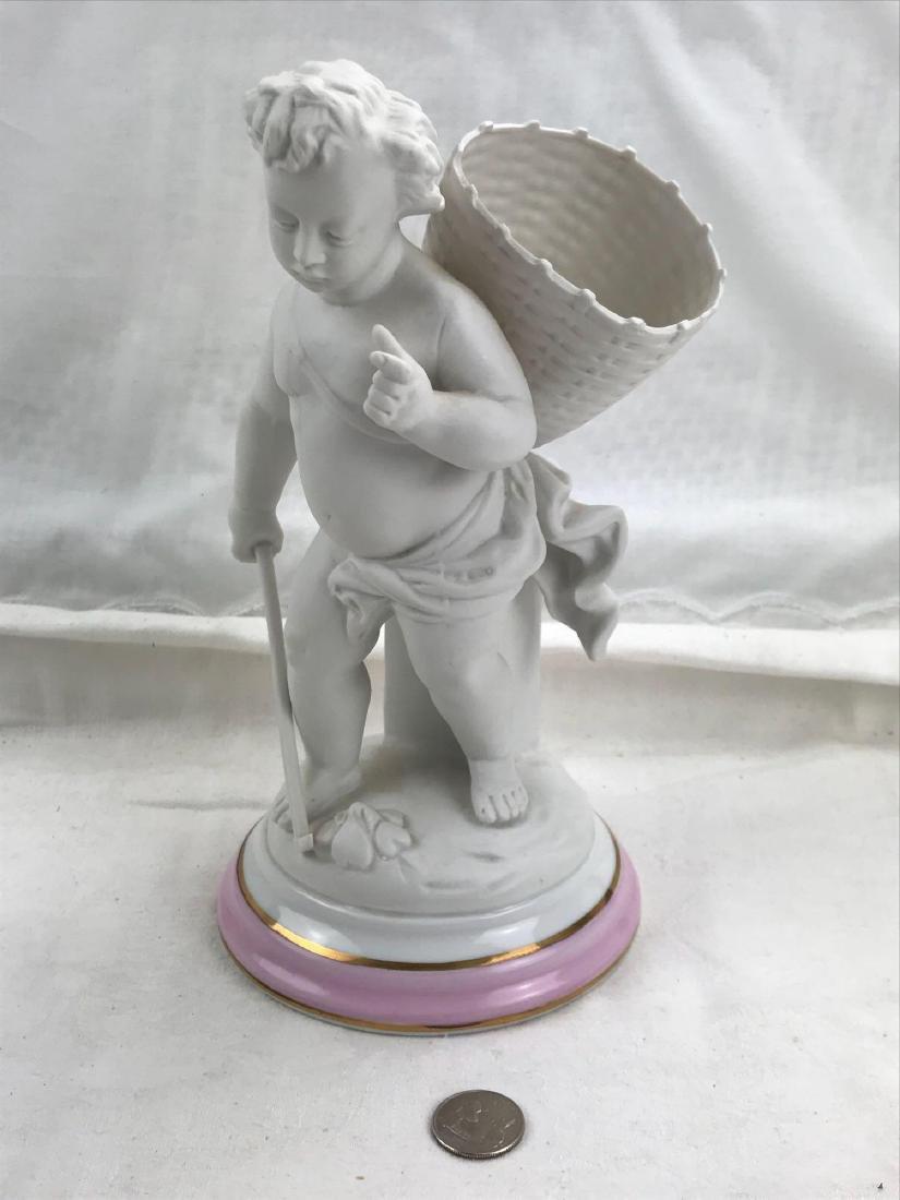 Vintage Porcelain Bisque Cherub Statue Figurine
