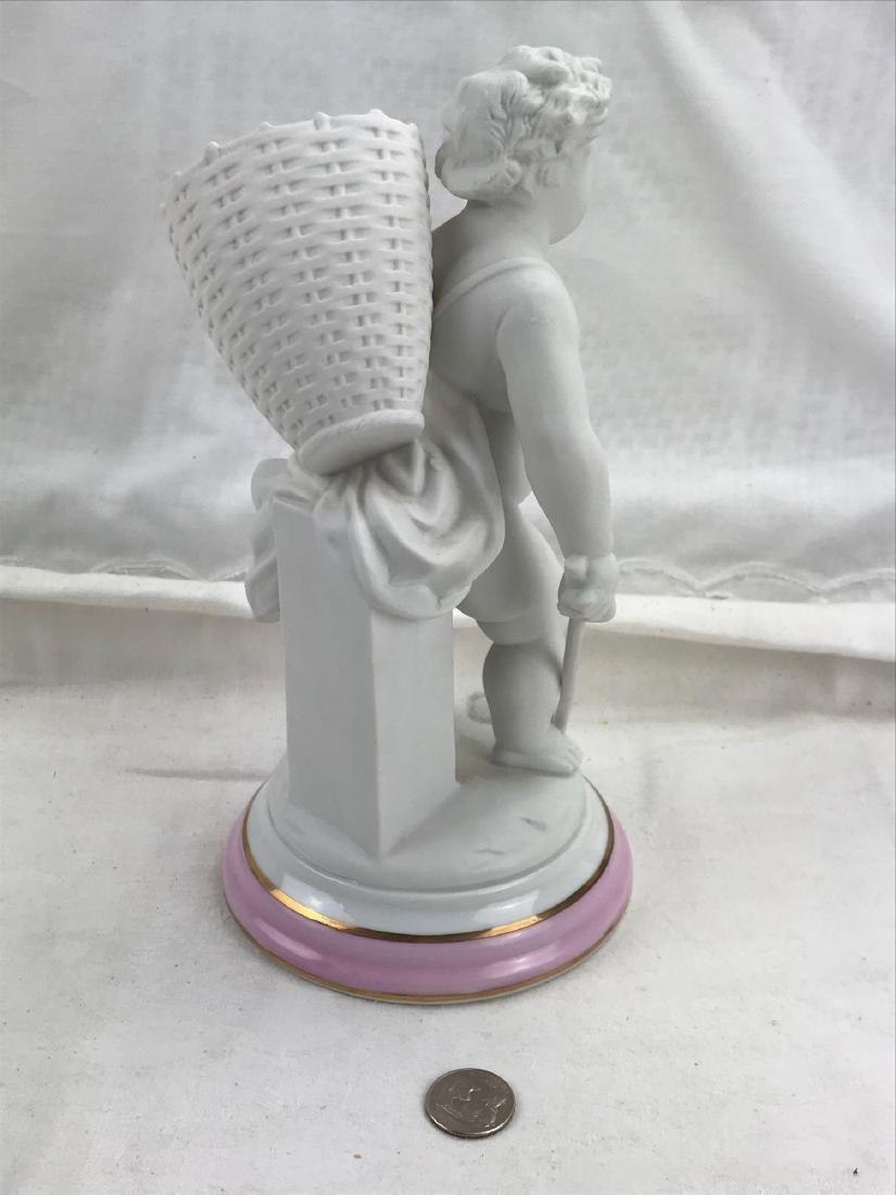 Vintage Porcelain Bisque Cherub Statue Figurine - 2