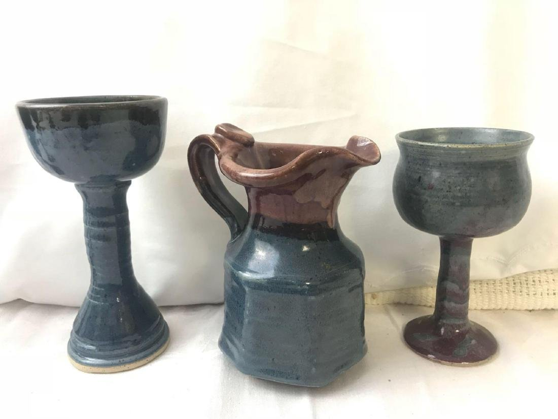 Eclectic Hand Made Goblets