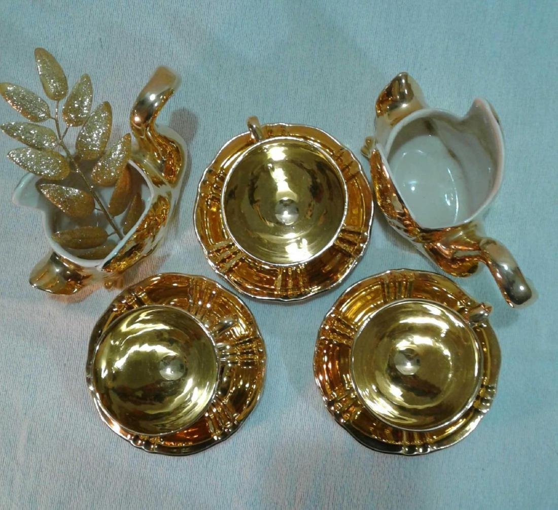 Royal Winton Golden Age 6 Piece Tea Set with 2 Swans - 2