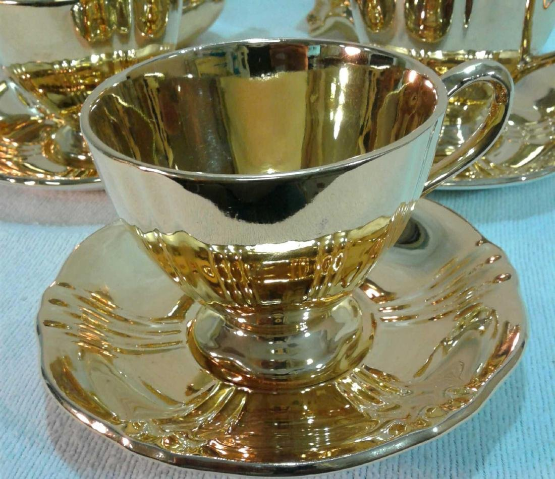 Royal Winton Golden Age 6 Piece Tea Set with 2 Swans - 3