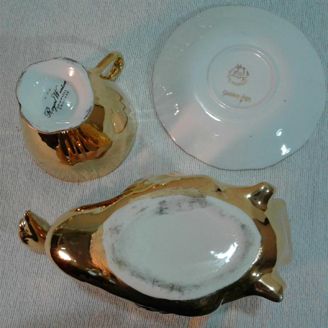 Royal Winton Golden Age 6 Piece Tea Set with 2 Swans - 8