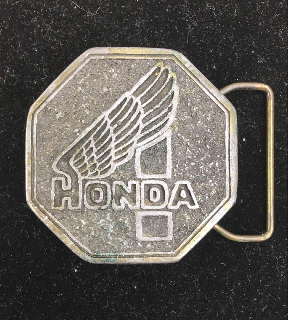 Vintage 1970's Honda Motorcycles Belt Buckle