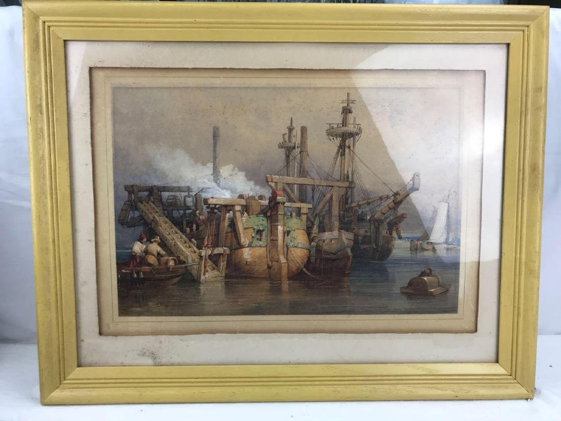 Original Clarkson Frederick Stanfield Watercolor