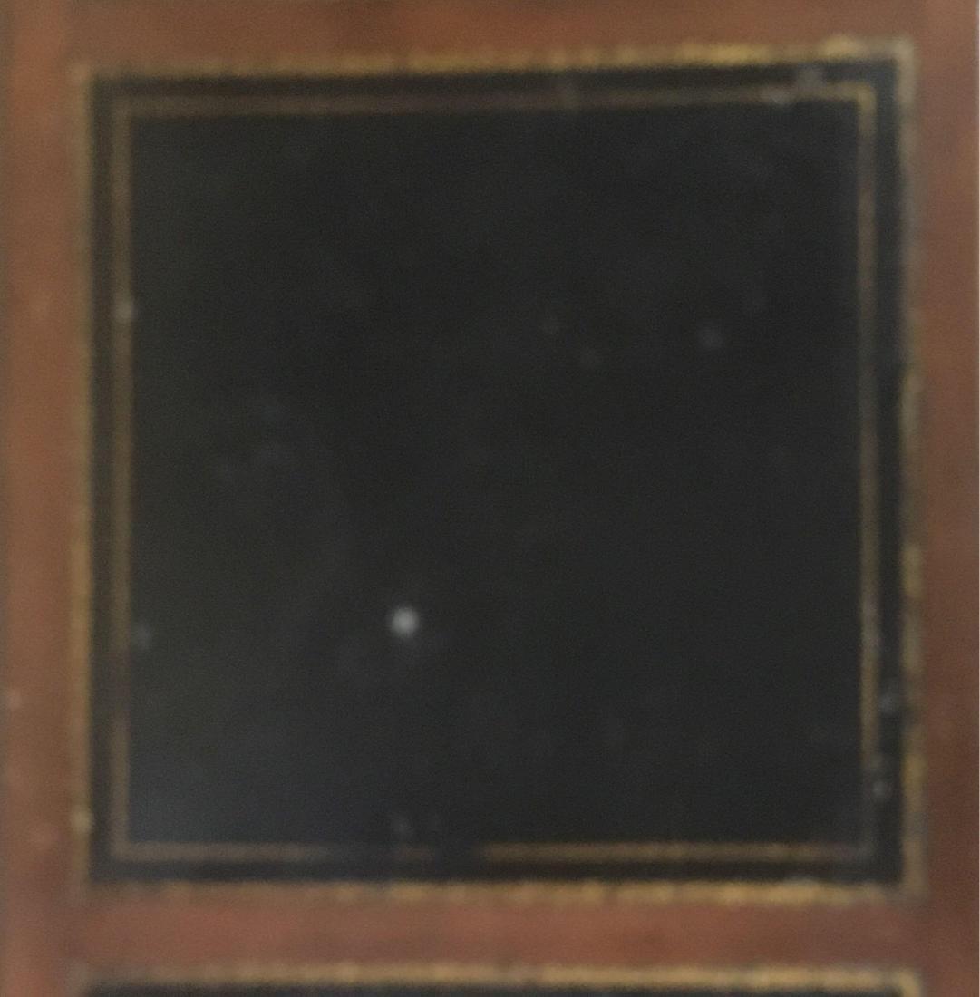 Vintage Oak Leather Top Desk - 2
