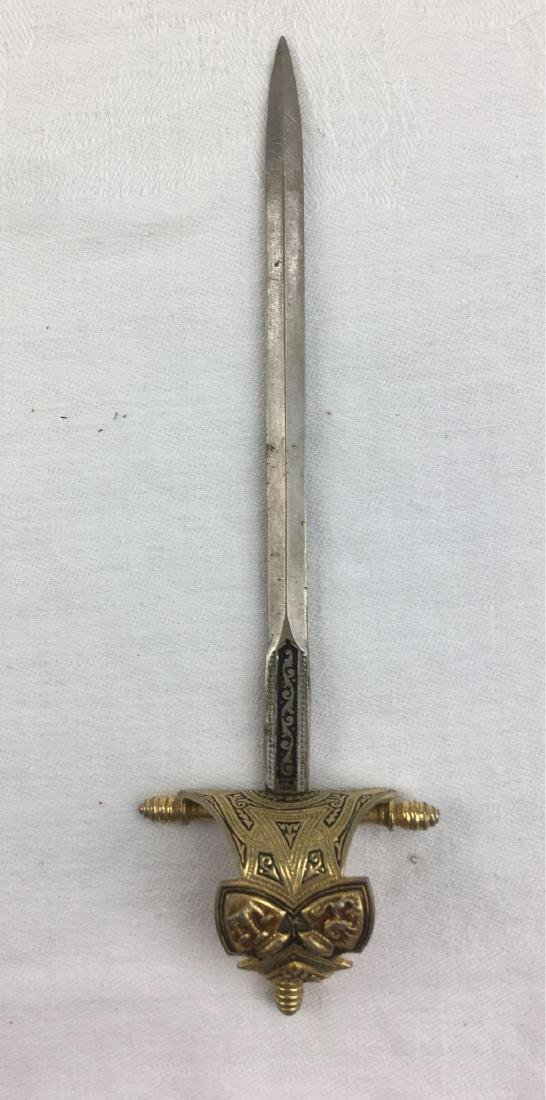 Vintage Condiment Serving Knife Forged In Historic - 2