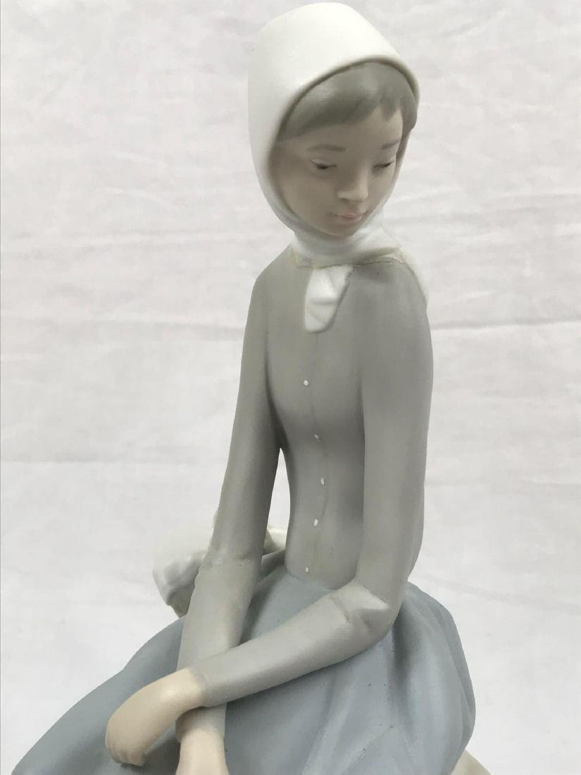 "Lladro Spain ""Girl With Piglets"" Figurine - 4"