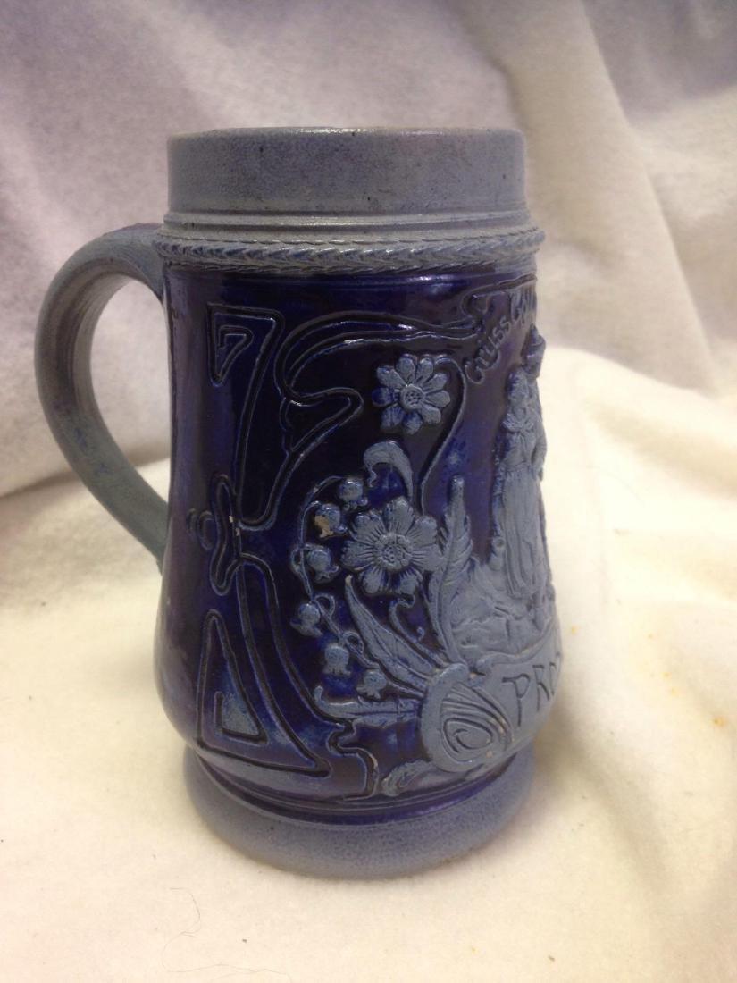 Vintage German Salt Glazed Stoneware Beer Stein- lot 2 - 3